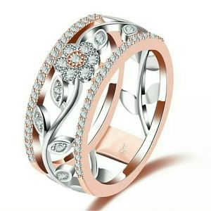 ARRIVING SOON! Rose Gold & Silver Flower Band Ring